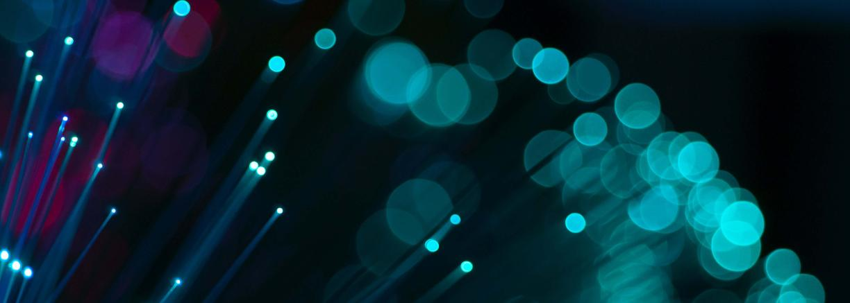 Abstract background of glowing wires or fiberoptic cables